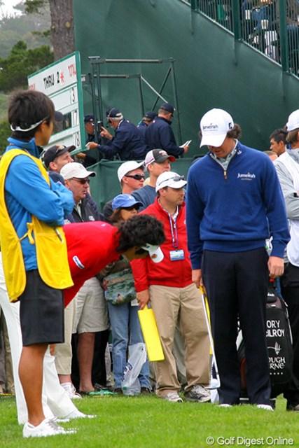 2010年 全米オープン2日目 石川遼&ロリー・マキロイ フェースの上でボールをクルクル。この時の2人の会話を聞きたい・・・