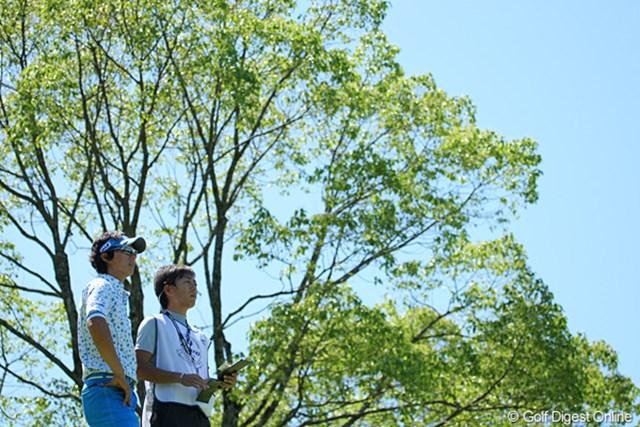 石川遼:涼しさを意識したという青色のウェアの石川遼