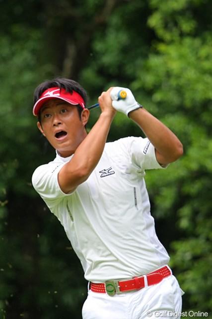 石川遼と同組で回った竹本直哉。「あっ!」という顔だが、最終的には31位タイ