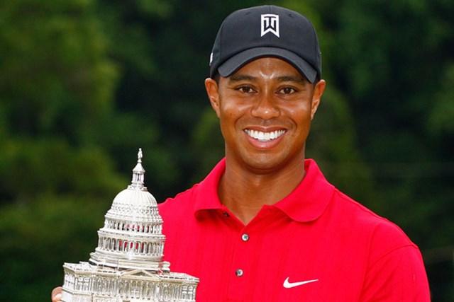 タイガー・ウッズ/AT&Tナショナル事前 ディフェンディングチャンピオンとして今大会に臨むタイガー・ウッズ(Scott Halleran /Getty Images)