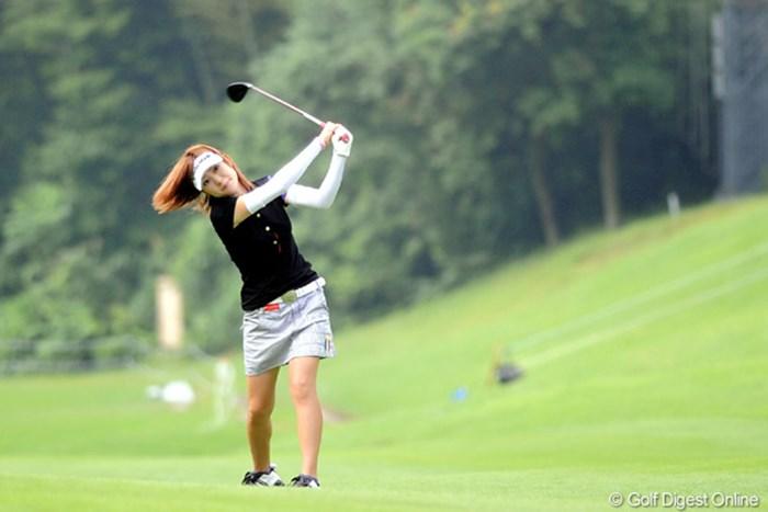 マコマコ~~!大丈夫かァ~!元気出せよォ~~~!106位 2010年 日医工女子オープンゴルフトーナメント 初日 竹村真琴