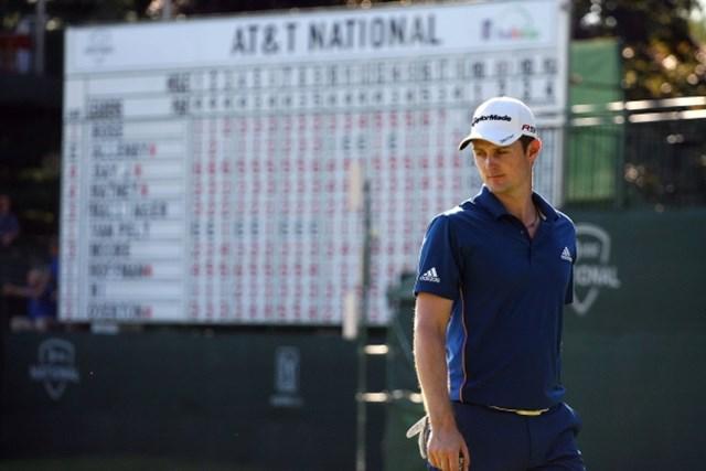 「64」をマークしたJ.ローズが単独首位に浮上!(Hunter Martin /Getty Images)