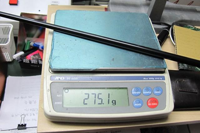 マーク金井の試打IP ヤマハ インプレスX クラシック ドライバー NO.4 クラブの総重量は275グラムと超軽量スペック