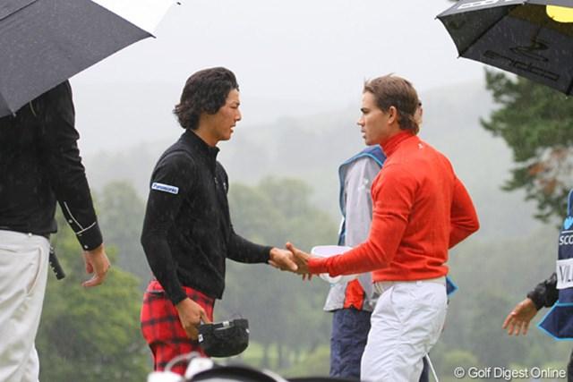2010年 バークレイズ スコットランドオープン 初日 石川遼 安定感のあるゴルフを見せ、4アンダーでホールアウトした石川遼