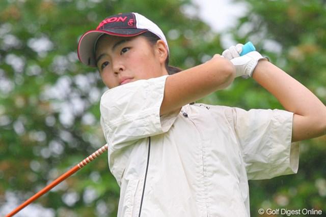 13歳でプロの試合で優勝を果たした高橋恵(写真は大会初日のもの)