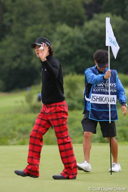 2010年 バークレイズ・スコットランドオープン 初日 石川遼 14番でこの日4つ目のバーディを奪った石川