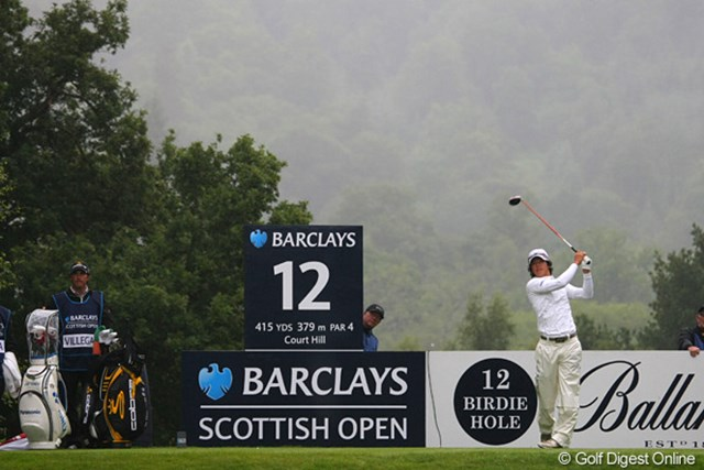 2010年 バークレイズ・スコットランドオープン 2日目 石川遼 終日降り続いた雨で視界も曇る