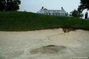 2010年 全米女子オープン 2日目 雨に濡れるバンカー