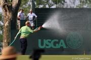 2010年 全米女子オープン 2日目 散水作業