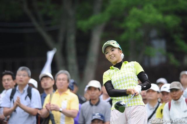 2010年 明治チョコレートカップ 2日目 菊地絵理香 道産子のアイドル(?)がギリで予選通過!明日は7時34分スタートです。早ッ!!49位T