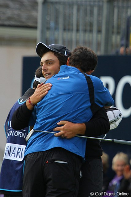 兄弟で最終日最終組となったエドアルドとフランチェスコのモリナリ兄弟。試合が終わると熱い抱擁