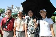 2010年 全米女子オープン 最終日 上野藍子と家族