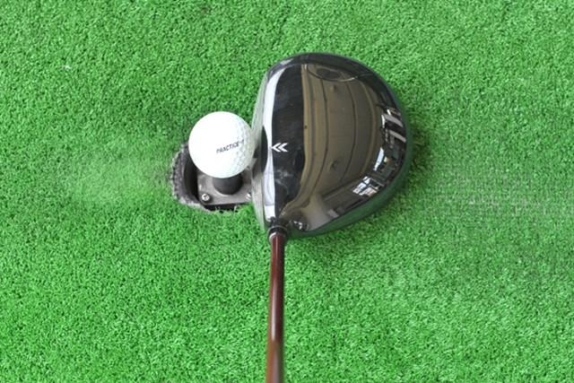 新製品レポート「プロギア RED505 ドライバー」NO.3 丸型ヘッドで投影面積が大きく、安心感がある