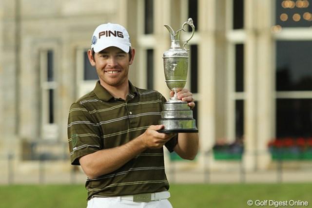 2010年 全英オープン 最終日 ルイ・ウーストハイゼン メジャー初優勝を飾った南アフリカのルイ・ウーストハイゼン。これからが楽しみな27歳だ