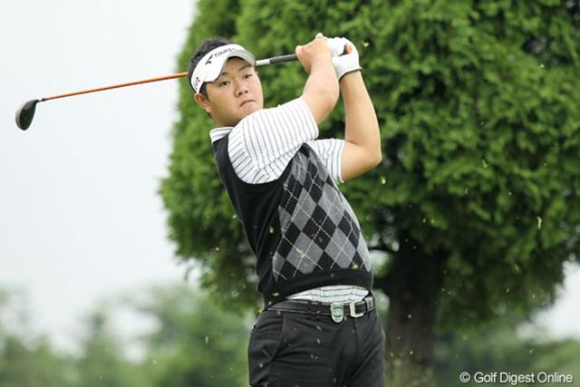 「今日はショットがブレていた」という薗田峻輔は6位タイに後退