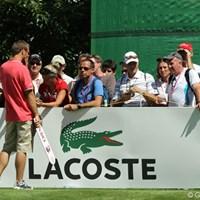 ゴルフ観戦に慣れていないギャラリーがスイング中にシャッターを押す。かなりの頻度でした 2010年 エビアンマスターズ 最終日 カメラ
