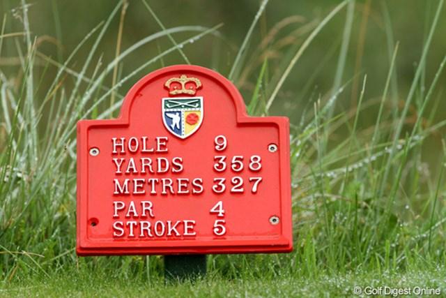 2010年 全英リコー女子オープン事前情報 ヤーデージ標識 「ストローク」とは、そのホールのハンディ番号を表しています