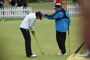 2010年 全英リコー女子オープン3日目 インクスターの練習