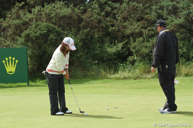 2010年 全英リコー女子オープン3日目 宮里美香 予選は通らなかったけど、コースに来て練習してました