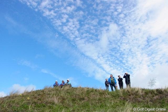 2010年 全英リコー女子オープン3日目 雲 空にはもう秋の雲