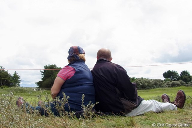 2010年 全英リコー女子オープン3日目 夫婦 夫婦二人でゴルフ観戦