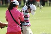 2010年 全英リコー女子オープン最終日 シャンパン