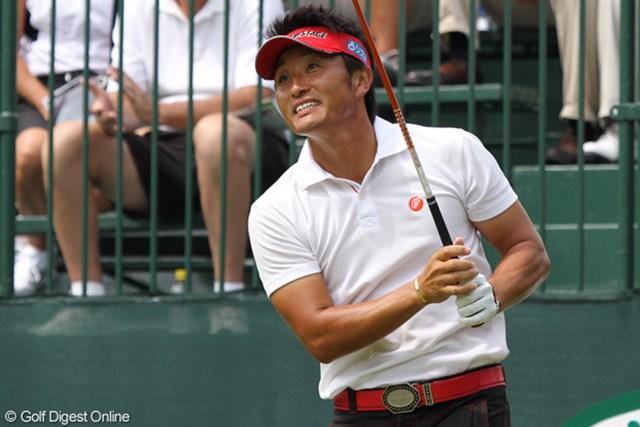 2010年 WGCブリヂストンインビテーショナル 最終日 宮本勝昌 「お願いフェアウェイに落ちて!」という表情の宮本勝昌