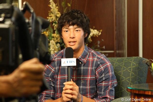 2010年 全米プロゴルフ選手権事前情報 石川遼 4日間中継を行うTBSのインタビューに答える石川遼