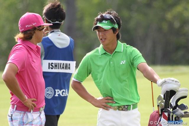 2010年 全米プロゴルフ選手権3日目 石川遼&リッキー・ファウラー ジュニア時代に共に戦った話などで盛り上がる2人