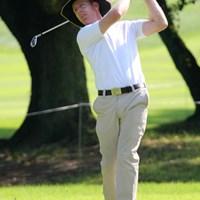 えらく涼しげな帽子を被っていたC.キャンベル。用意周到ですね 2010年 関西オープンゴルフ選手権競技初日 クリス・キャンベル