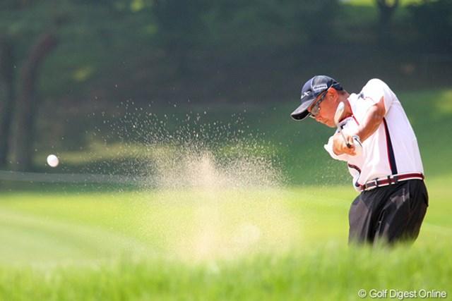 2010年 関西オープンゴルフ選手権競技初日 谷口徹 1アンダー発進の谷口徹。近隣の地元・奈良県からも高い期待を浴びているだろう