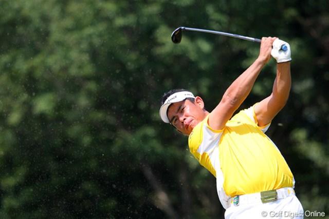 2010年 関西オープンゴルフ選手権競技初日 平塚哲二 地元・京都出身の平塚哲二。2アンダー6位タイと上々の立ち上がり