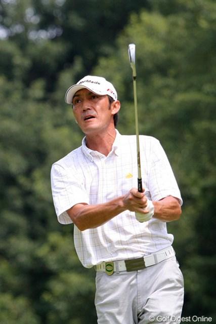2010年 関西オープンゴルフ選手権競技初日 河井博大 この狭いコースで3バーディ、ノーボギー。素晴らしい内容で終えた河井博大