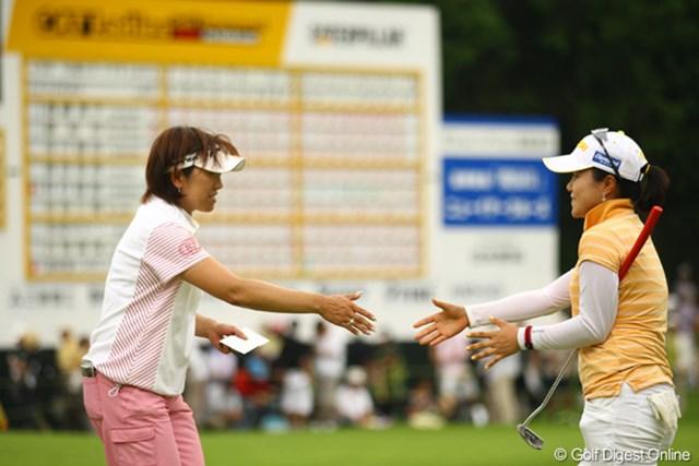 2010年 CAT Ladies2日目 福嶋晃子&姜如珍 通算10アンダーまでスコアを伸ばした福嶋晃子と1打差2位タイの姜如珍