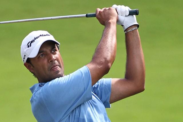 2010年 ウィンダム選手権3日目 アージュン・アトワル PGAツアー初制覇に王手をかけたインドのアージュン・アトワル(HunterMartin/Getty Images)