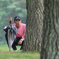 1番からトラブルに見舞われた岡茂洋雄は1ストローク落とし、13位タイで終了 岡茂洋雄