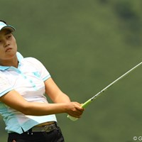 初優勝のプレッシャーを感じてしまったようです。チップインで凌ぐも、一日を通じて出入りの激しいゴルフでした 2010年 CAT Ladies最終日 姜如珍
