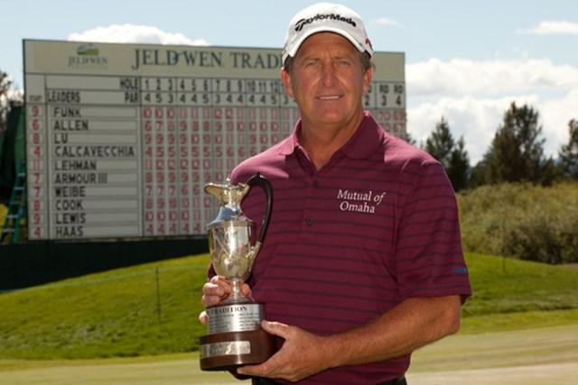 粘り強いゴルフで逆転優勝を果たしたフレッド・ファンク(Darren Carroll/Getty Images)