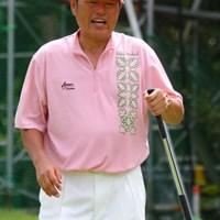 3日目にスコアを伸ばした尾崎健夫だが、最終日はいまひとつ伸び悩んだ 2010年 VanaH杯KBCオーガスタゴルフトーナメント最終日 尾崎健夫