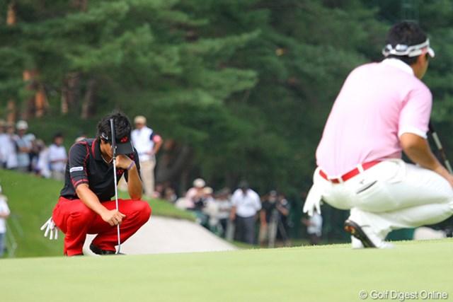 2010年 フジサンケイクラシック最終日 石川遼 プレーオフ3ホール目、絶好のバーディチャンスを逃してうなだれる場面も