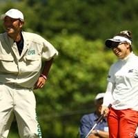 ノーボギーのラウンドは、自身初めてだそうです。3アンダー3位タイです 2010年 日本女子プロゴルフ選手権大会コニカミノルタ杯初日 中園美香