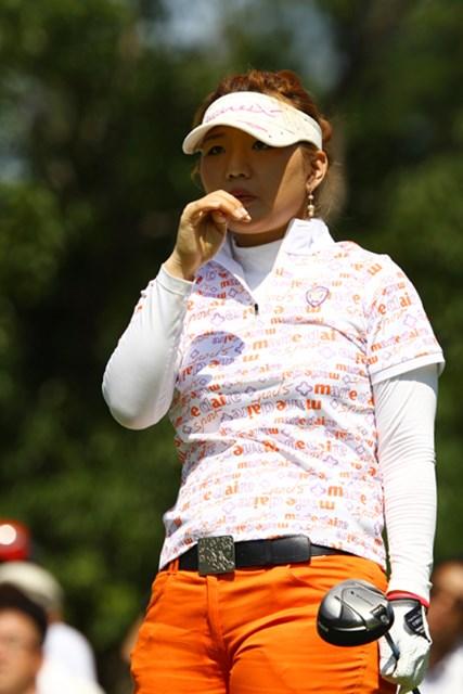 2010年 日本女子プロゴルフ選手権大会コニカミノルタ杯3日目 黄アルム ラウンド中に熱中症で休憩を取った黄アルム、なんとか18ホール完走した