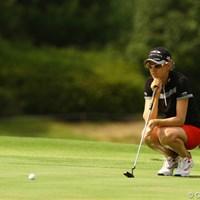 カモンです。イエスです。バックナインで4つスコアを伸ばし、トップと5打差の3位タイです 2010年 日本女子プロゴルフ選手権大会コニカミノルタ杯3日目 ニッキー・キャンベル