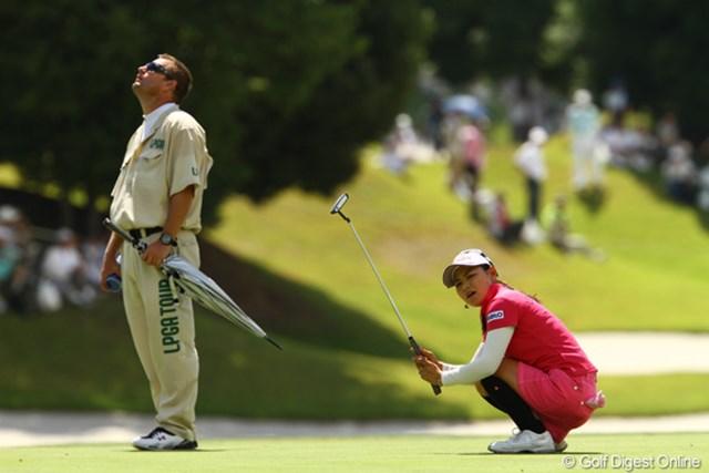 2010年 日本女子プロゴルフ選手権大会コニカミノルタ杯最終日 横峯さくら この日はバーディパットが最終18番まで1つも決まらず苦戦した横峯さくら