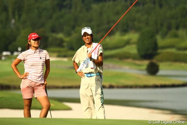 2010年 日本女子プロゴルフ選手権大会コニカミノルタ杯最終日 藤田幸希 ラウンド中は緊張せずに笑顔の耐えなかった藤田幸希