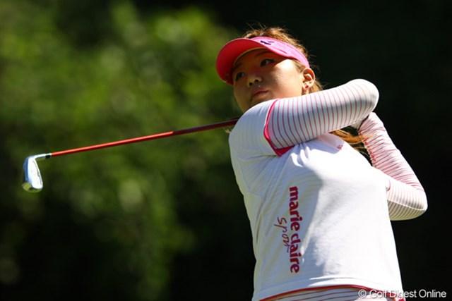 2010年 日本女子プロゴルフ選手権大会コニカミノルタ杯最終日 黄アルム 昨日の熱中症のはどこへ?逆に力が抜けて、良かったのかも。4つスコアを伸ばし、3アンダー8位タイです。