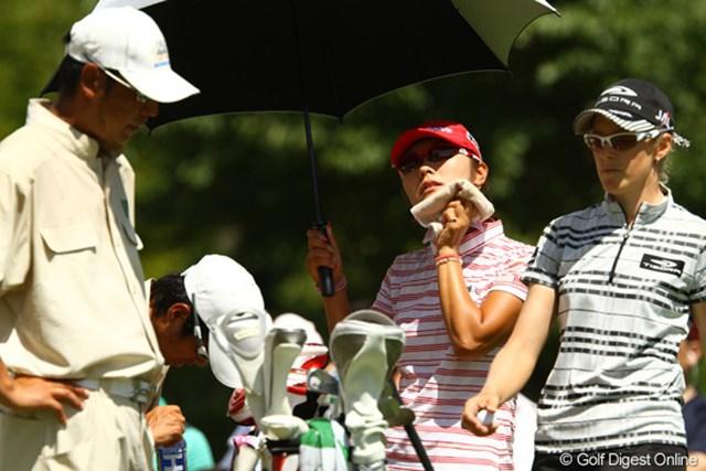 2010年 日本女子プロゴルフ選手権大会コニカミノルタ杯最終日 藤田幸希 本当に熱い一日でした。汗はかいても、ゴルフは終始冷静でした。最終日にこのコースでノーボギーは信じられません。