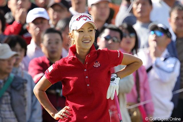 2010年 ミヤギテレビ杯ダンロップ女子オープンゴルフトーナメント最終日 上田桃子 逆転優勝はならなかったが2週連続で4位タイに入り笑顔の上田桃子