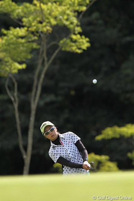 2010年 ミヤギテレビ杯ダンロップ女子オープンゴルフトーナメント最終日 菊地絵理香 9位タイフィニッシュの絵理香ちゃん、ベスト10入りは、りっぱです