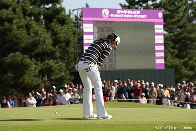 2010年 ミヤギテレビ杯ダンロップ女子オープンゴルフトーナメント最終日 イム・ウナ きっちりパーセーブして優勝をきめました。おめでとうございます